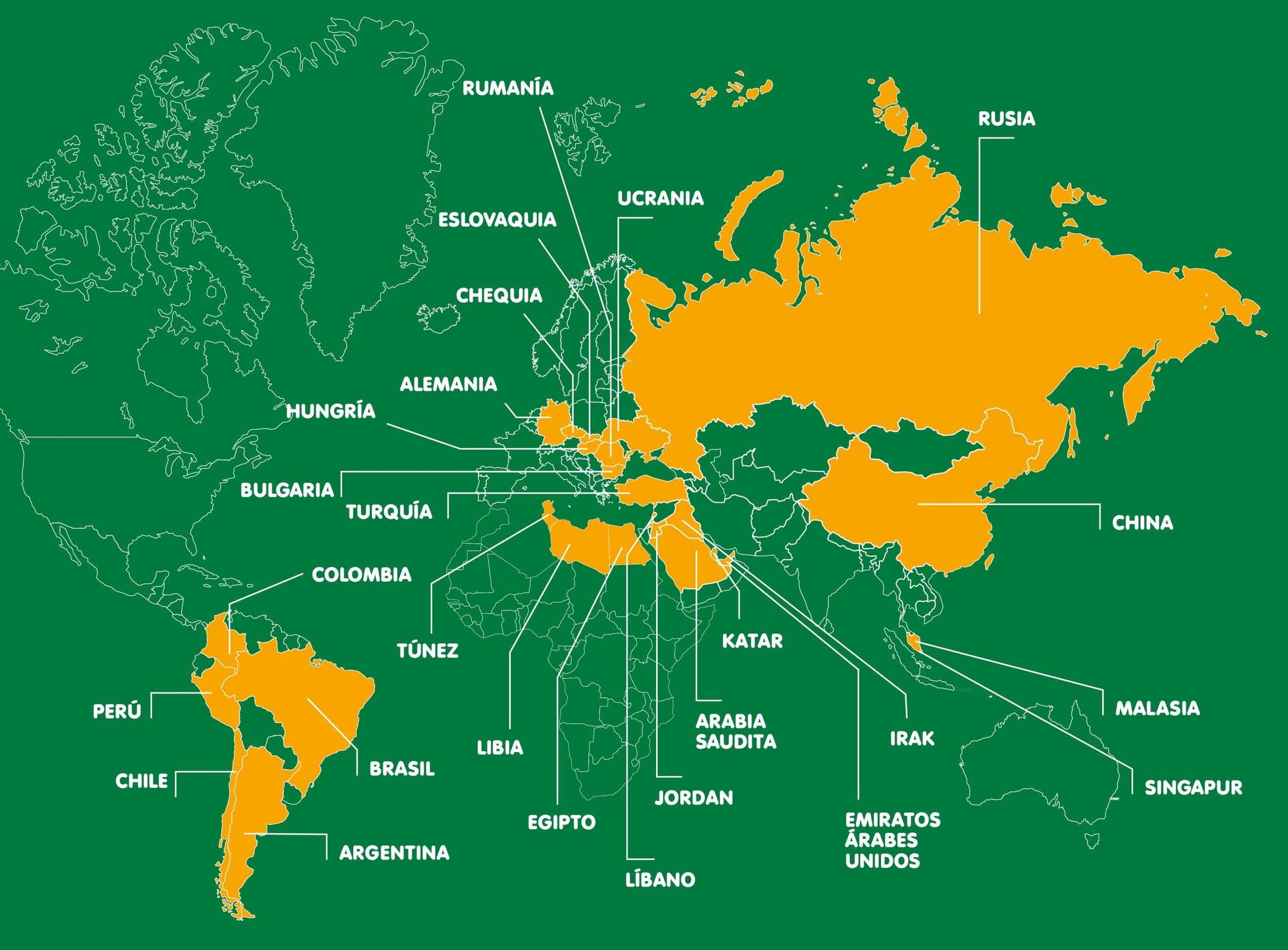 Averigüe en que países están disponibles nuestros productos Comidamed
